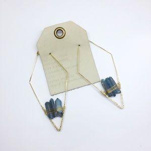 NWT Anthropologie blue crystal earrings